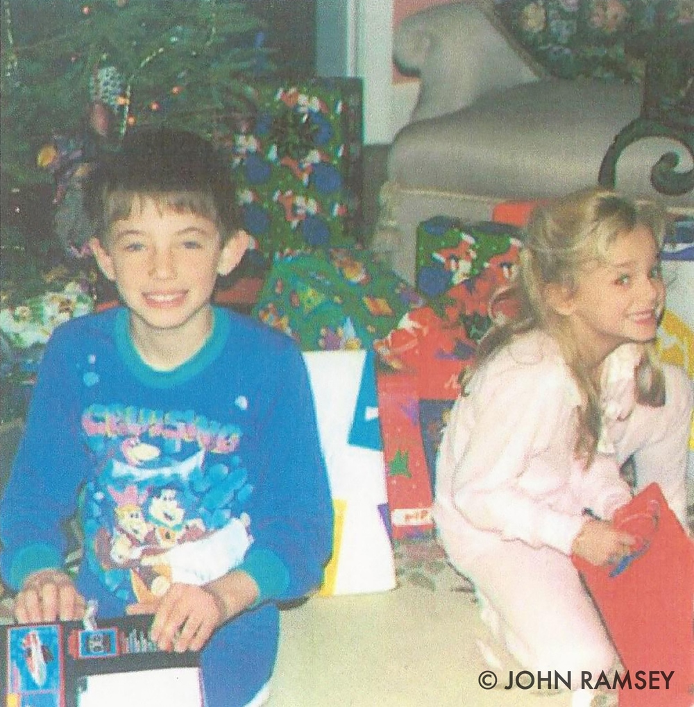 Burke and JonBenét Ramsey, Christmas morning, 1996
