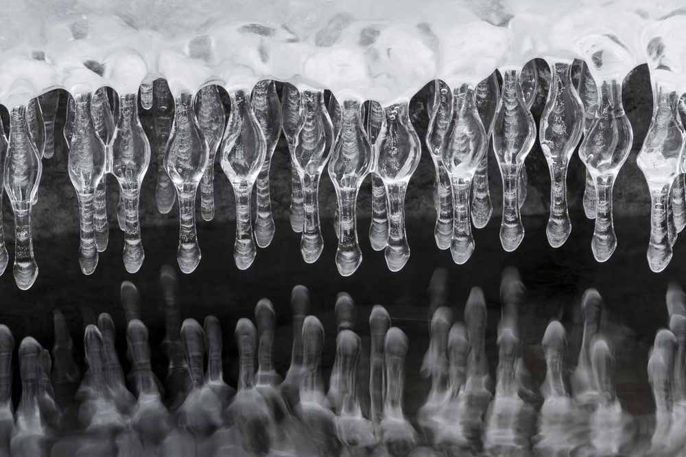 Ghost fingers: icicles hanging over the Temperance River