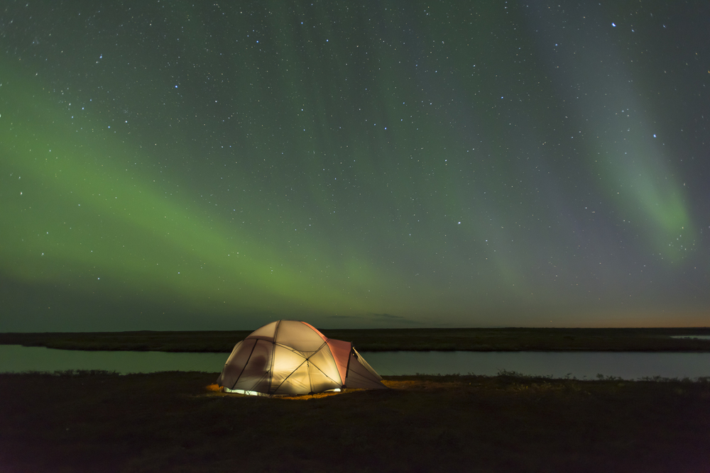 Under the stars. Ungava Bay, Northern Quebec, Canada.