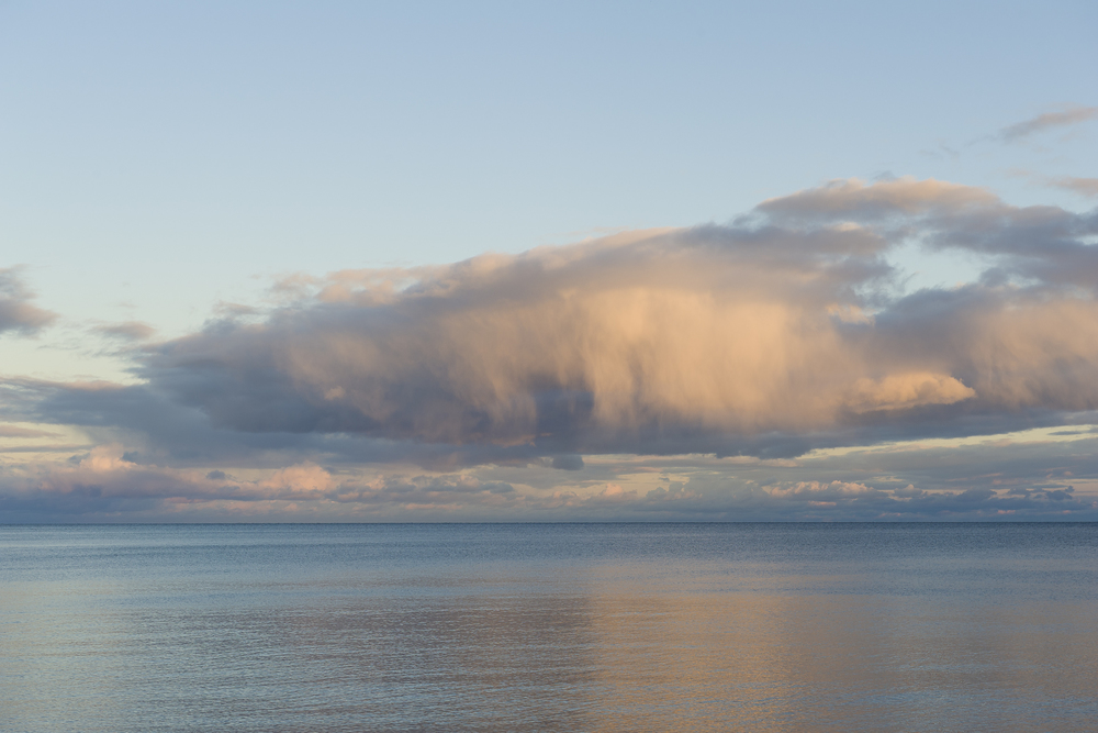 Late afternoon rain cloud on Lake Superior
