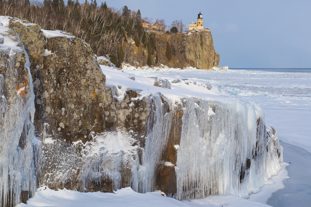 In the grip of winter: Split Rock Lighthouse SP