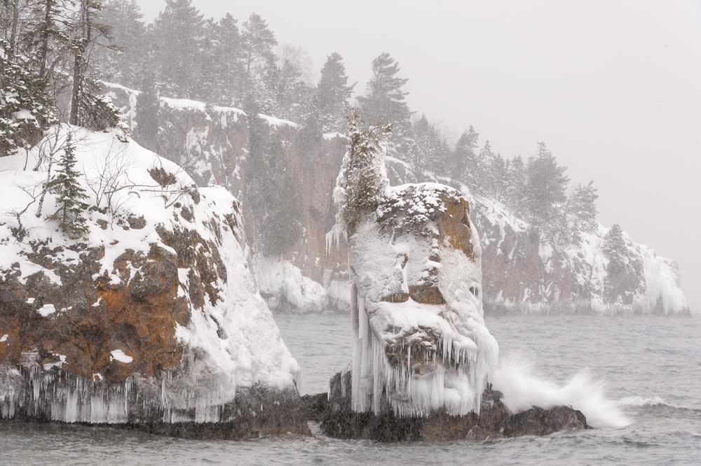 Blizzard. Tettegouche State Park.