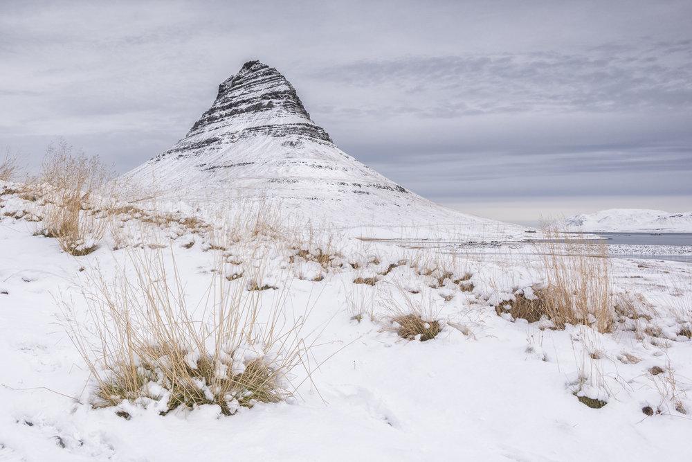 Kirkjufell Mountain. Snaefellsnes Peninsula.