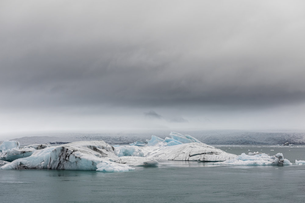 Icebergs. Jökulsárlón Glacial Lagoon.