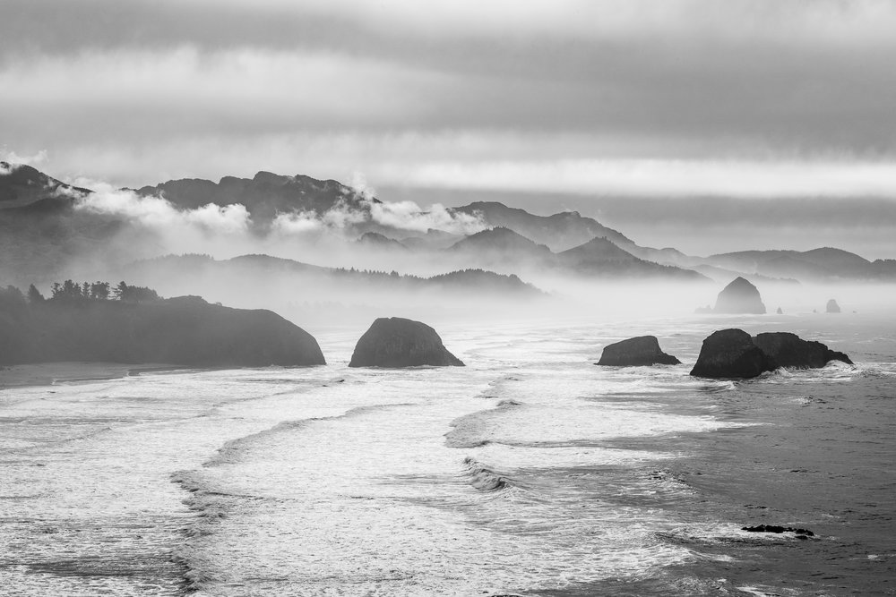 Fog over Cannon Beach