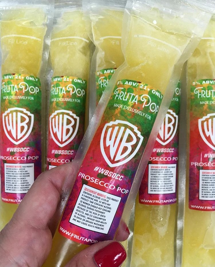 FrutaPOP teams up with Warner Brothers at Comic Con in San Diego!