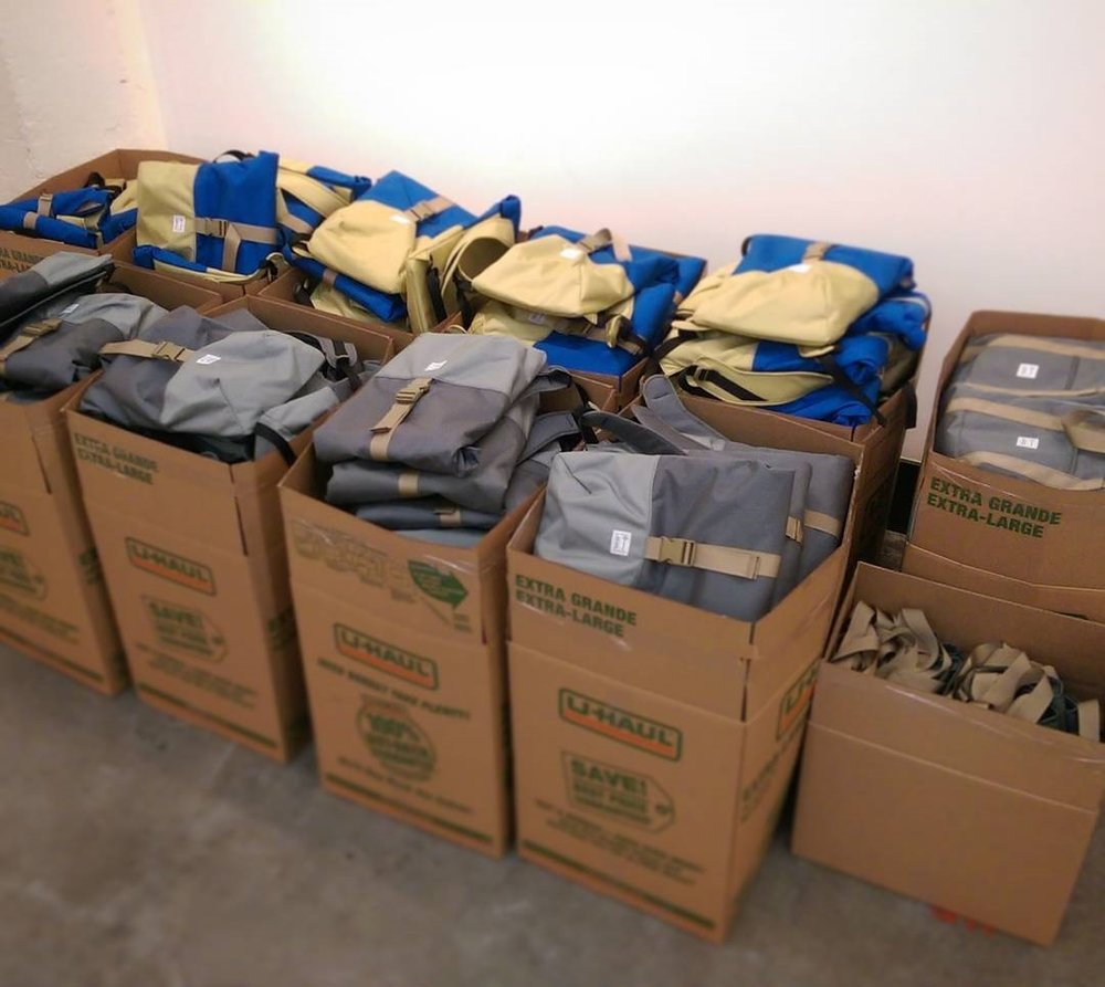 400 custom bags, ready to ship.
