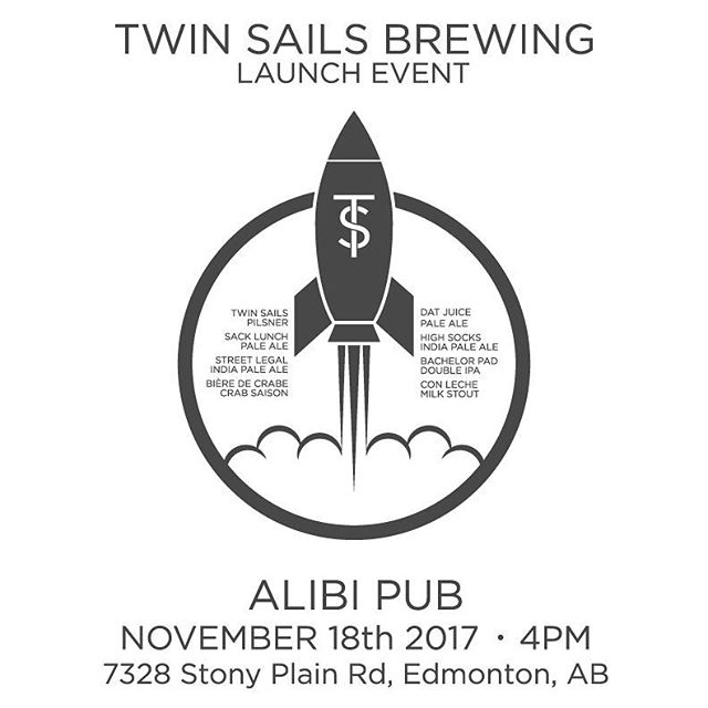 @twinsailsbeer Launch Party tomorrow!  Let's drink exclusive veers and have a party!