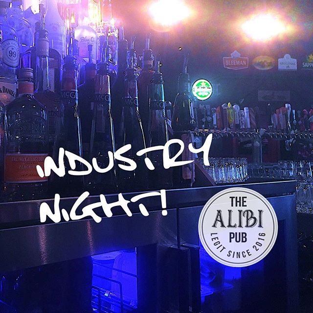 Industry Night... Calling all servers and bartenders... Sunday December 10th 6 PM to close... 25% off all appetizers… Live DJ playing all night… http://thealibipub.ca #industrynite #industrynight #yeg