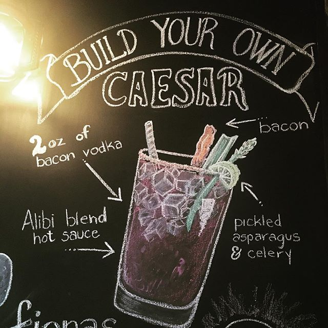 Build your own Caesar at Alibi. Throw in some unique items and try it out! #customcaesar #thealibipub