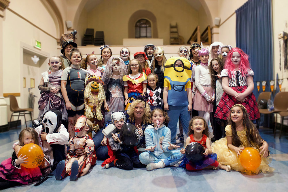 DCU Mercy little monsters in their costumes