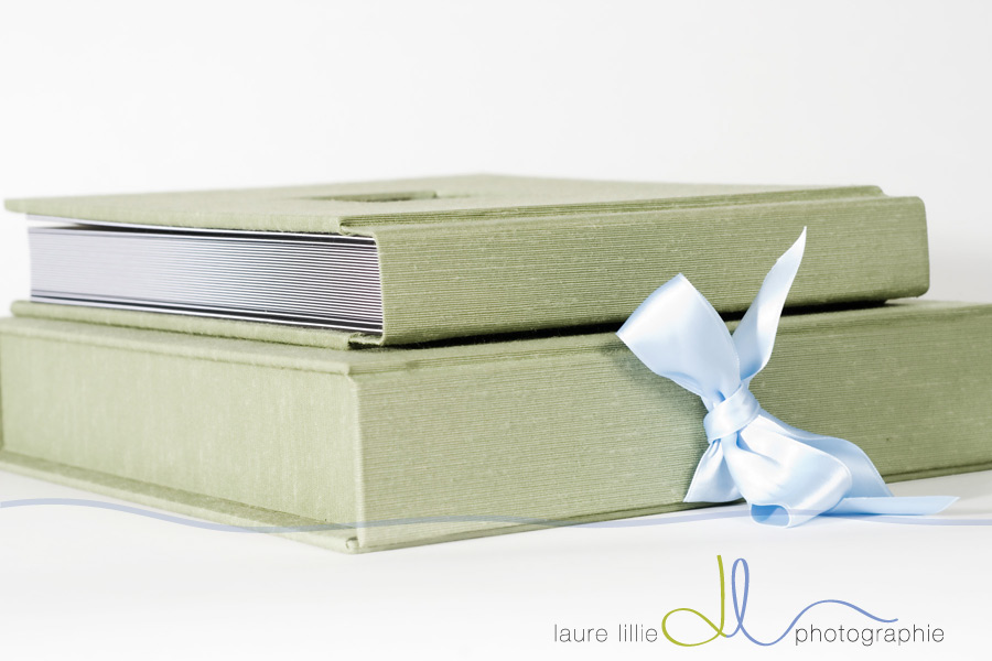 Iris Book in Sage Green with Presentation Box