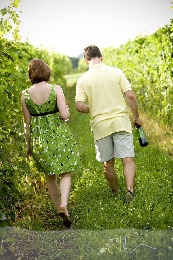 Walking in between the vines