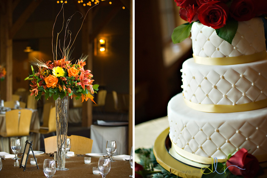 flowers by Backyard Garden and a elegant cake by The Patisserie