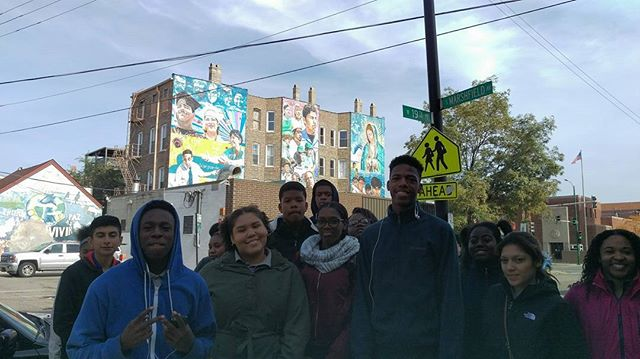 The awesome Catalyst Maria High School after checking out the Zimmerman murals. Thanks for joining us today!
