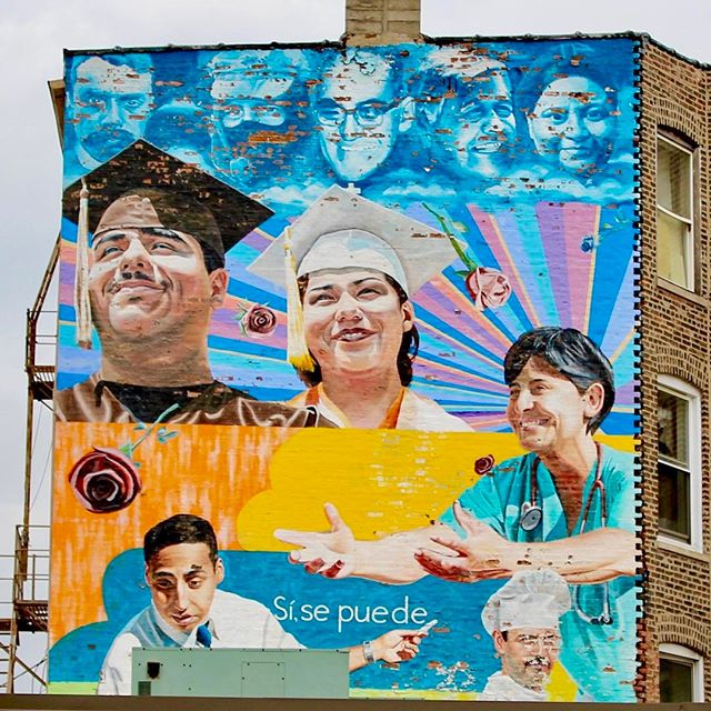 "Artist: @jeffzimmermann ""Increibles las cosas q' se ven""  Ashland Ave & 19th Street. ""I always hope the murals give you something more to think about than just a bowl of fruit would. There's always politics in what I do, and hopefully people get some kind of meaning out of it."" (Chicago Sun-Times, 8.4.07)"