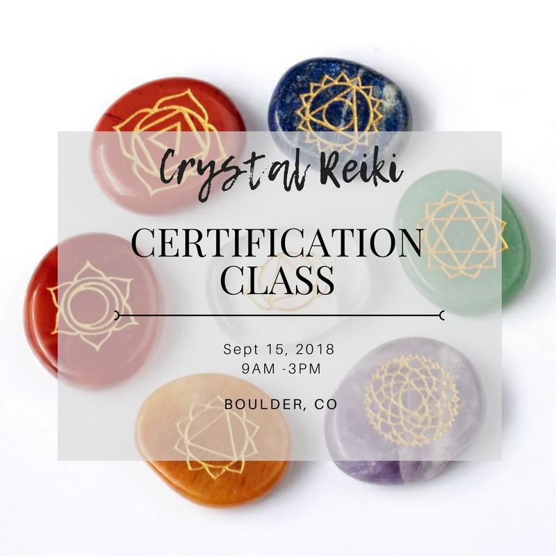 Crystal Reiki Certification Class Mind Body Mana