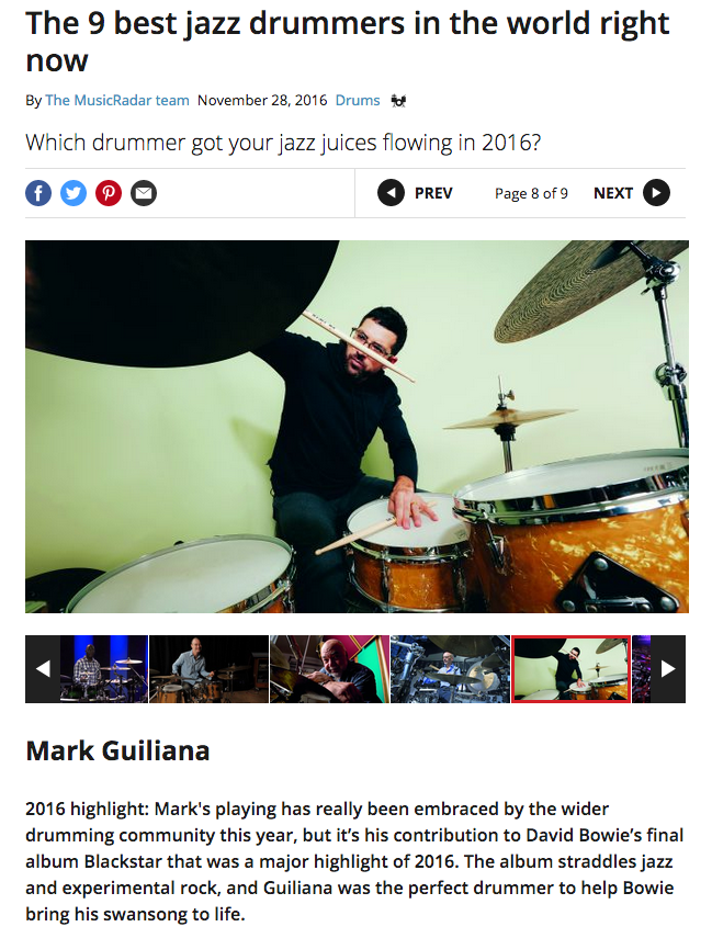 The 9 best jazz drummers in the world right now — Mark Guiliana