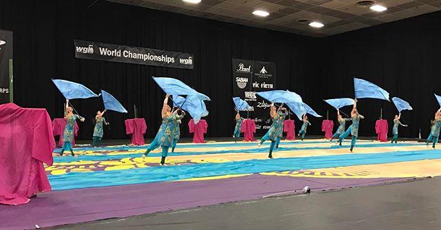 What an amazing prelims performance! #compassrose #colorguard #2017 #mirage #wgiworldchampionships #wgisportofthearts #daytonohio