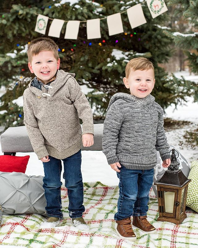 Brothers! ❄️ Sneak peek from the Carman boys Holiday Mini Session! 🎄
