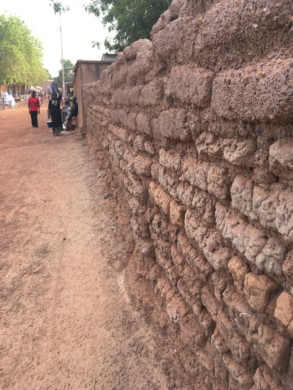 A typical wall along a town street.