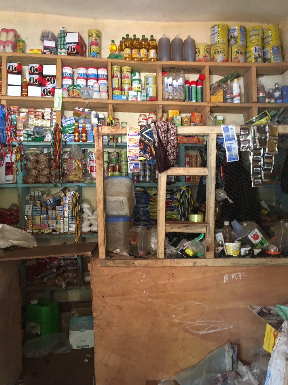 Inside a typical small-town shop.