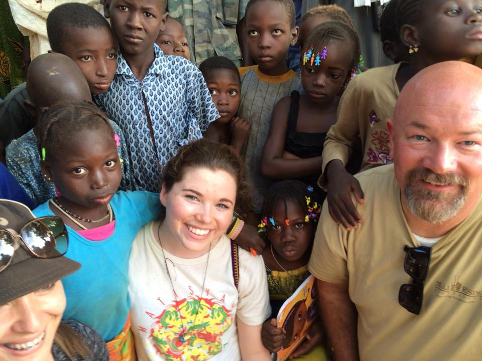 Brianne in Mali visiting with Mali Rising students and family.