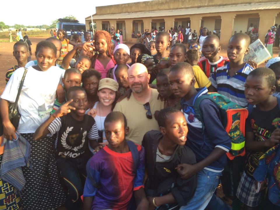 A sixteen-year-old Brianne in Mali with her day and just a few Mali Rising students.