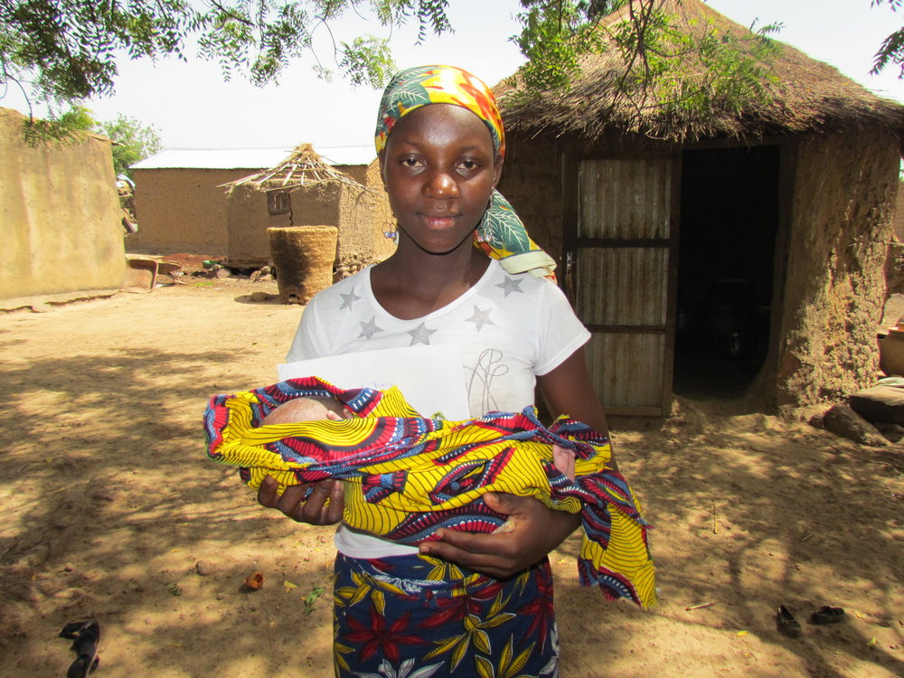 Aminata and her bouncing baby boy, Soumailia.