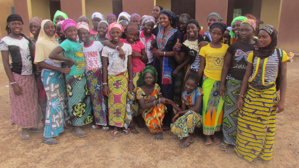 Hindaty with her Girls Group in Kolimba.