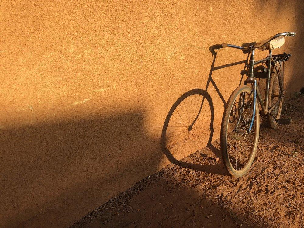 Classic bikes everywhere.