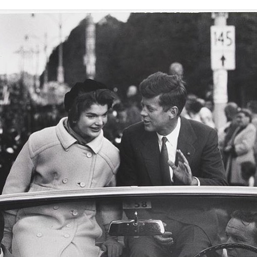 """Kennedy Campaigning in Boston"" 1958 by Carl Mydans  Happy Birthday Jackie 🎂"