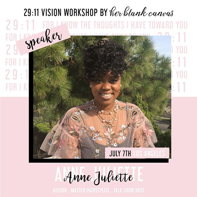SPEAKER ANNOUNCEMENT 🗣: Meet @annejulietteg, a Freelance Hairstylist from Haiti, who stepped out on faith and moved to Atlanta, GA where her career as a hairstylist in the film and television industry thrived.  She has worked alongside major hair brands such as, Aveda and Paul Mitchell, and has even written her own book! 💁🏾‍♀️⠀⠀⠀⠀⠀⠀⠀⠀⠀ •⠀⠀⠀⠀⠀⠀⠀⠀⠀ Anne will be one of the panelist sharing their journey to purpose, so you don't want to miss out.  TOMORROW is the last day to get your pre-sale tickets to 29:11. ⠀⠀⠀⠀⠀⠀⠀⠀⠀ •⠀⠀⠀⠀⠀⠀⠀⠀⠀ #herblankcanvas  #29eleven #glorytoglory #believers #mustardseed #womenoffaith #womenofgod #proverbs31woman #hbcvisionboards #worthy #dailyaffirmations #womenwhowin #faithbased #glorifygod #glorifyhim #glorypost #waitingongod #boldness #visionboard #visionboards #dreamboard #dreamboards #promisedland #followingchrist #followinggod #godsplan #perfectpeace #shalom #jeremiah2911 #spreadlove