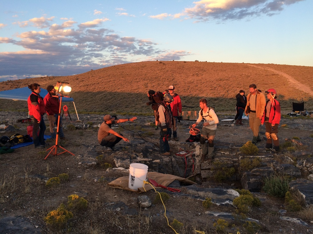 behind the Scenes, hooting at Sunset as the rescuers descend into Nutty Putty Cave.jpeg