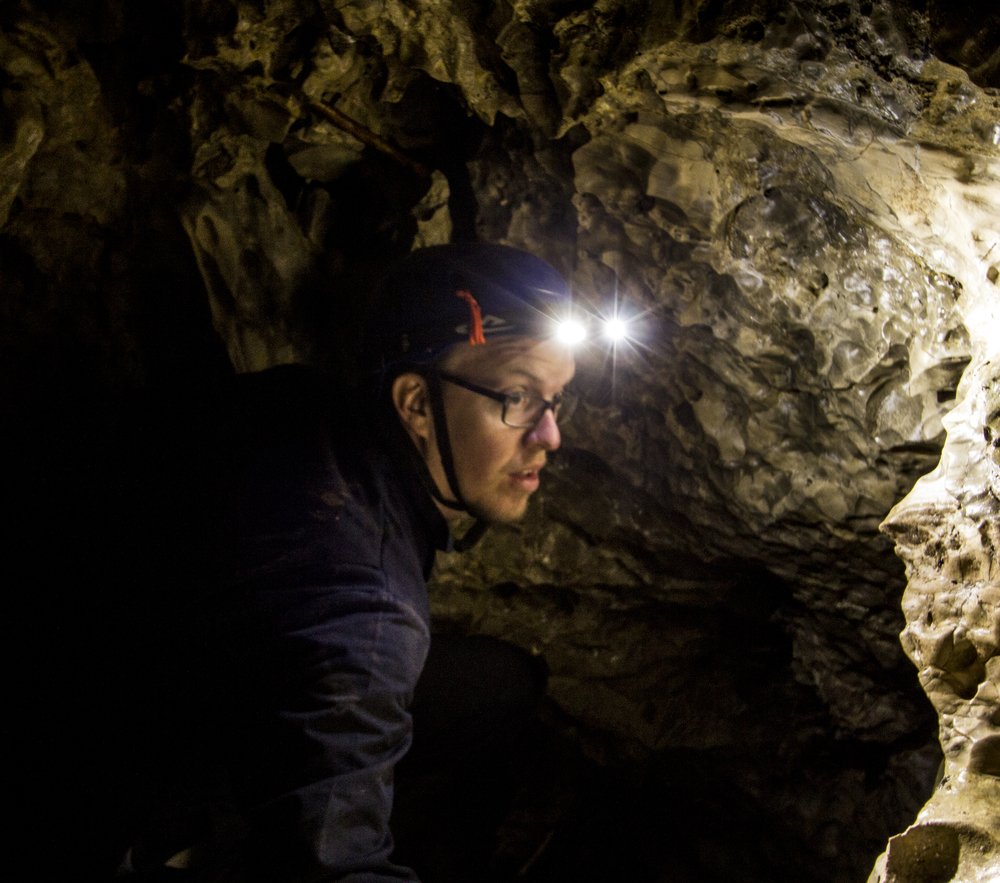 Producer Bryan Fugal scouting cave locations.jpg