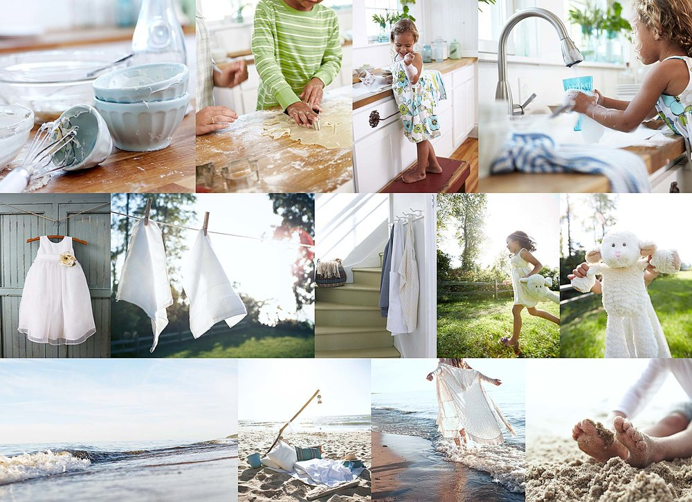 A collage of images from the beach house location.