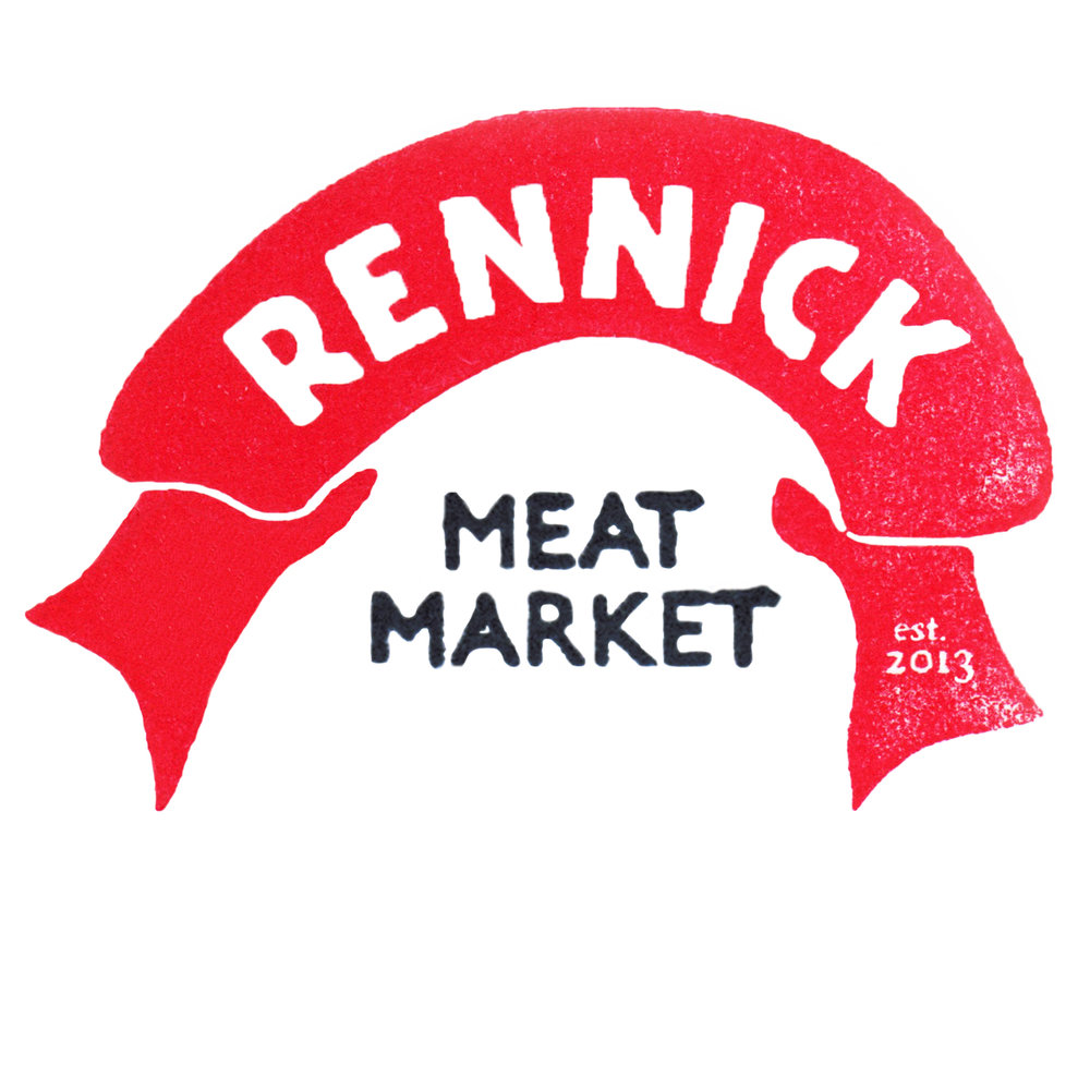 - Rennick Meat Market is influenced by its history as a butcher shop that was run by TJ Rennick in the late 1800s - early 1900s. The owners have embraced the historical décor, having restored as much as possible, to revive the ghosts of the building's past.  They hold on to the love of cooking in the old ways, dry-aging steaks, making homemade pickles, mustards, sausages and cured meats. They are dedicated to serving fresh, healthy and local fare, prepared simply and honestly.  Brunch, Lunch, and Dinner.