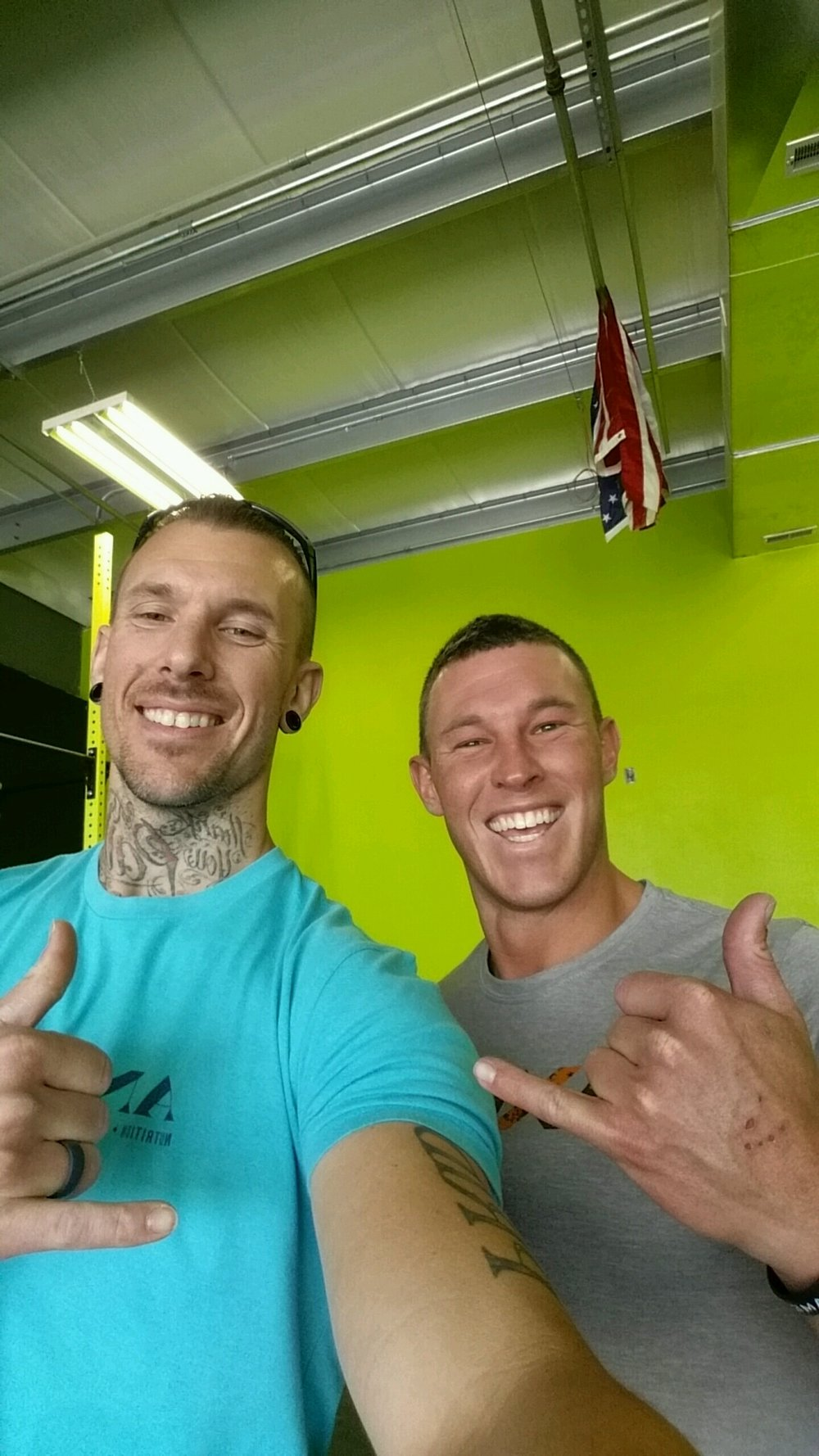 Hebrews 12:11 Fitness - Grimes, IA - Owner Jeff Hambrecht and I after the workout