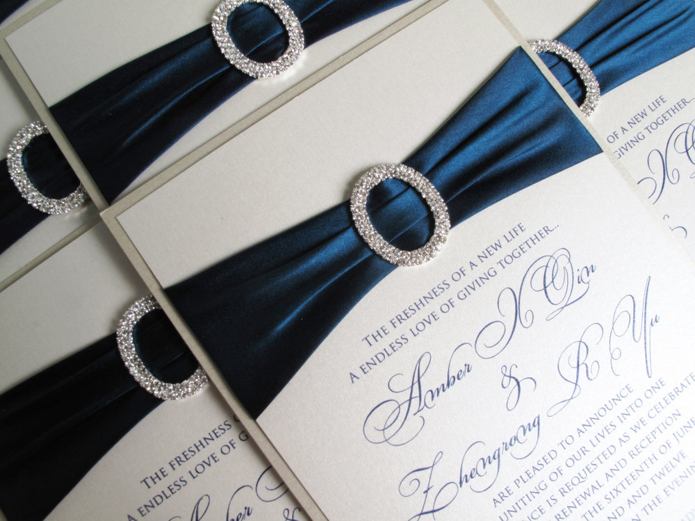 Invitation-Architects-Navy-Thermography-Silk-Ribbon-Wedding-Invitation
