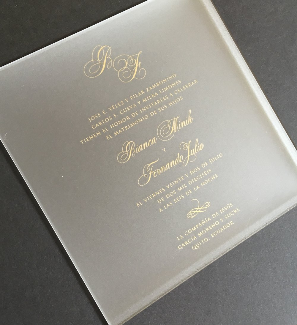 Invitation-Architects-Gold-Silk-Screen-Acrylic-Wedding-Invitation