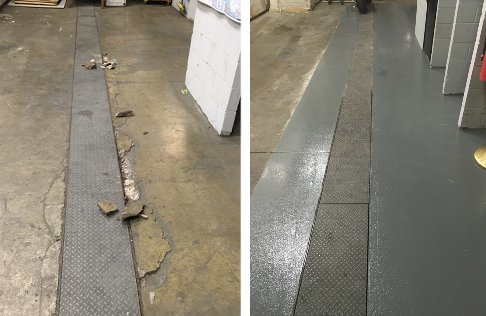Before & After - Epoxy Coating