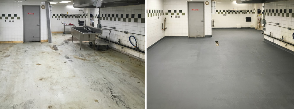 Before & After - Troweled Urethane Mortar System