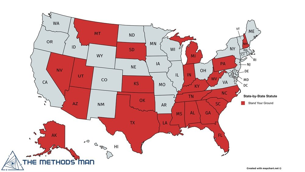 "States with ""Stand Your Ground"" laws. Does this map look familiar?"