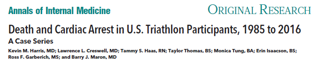 Death and Cardiac Arrest in U.S. Triathlon Participants, 1985 to 2016