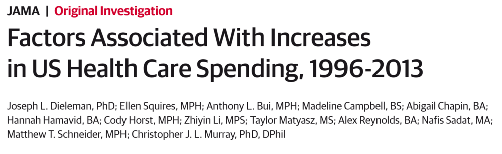 Factors Associated With Increases in US Health Care Spending, 1996-2013