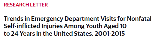 Trends in Emergency Department Visits for Nonfatal Self-inflicted Injuries Among Youth Aged 10 to 24 Years in the United States, 2001-2015
