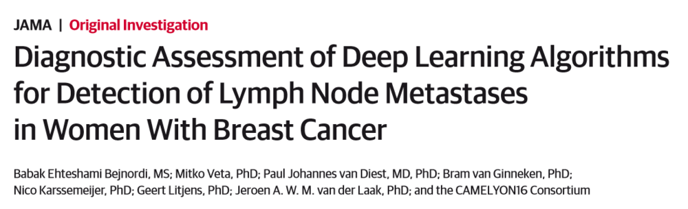 Diagnostic Assessment of Deep Learning Algorithms for Detection of Lymph Node Metastases in Women With Breast Cancer
