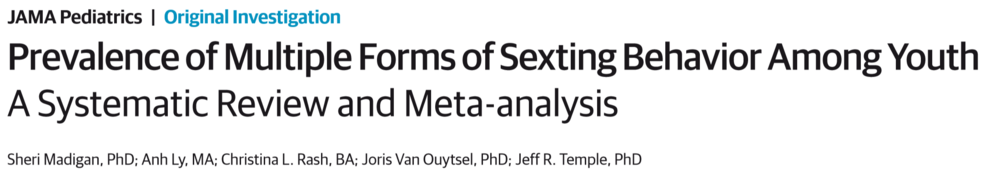 Prevalence of Multiple Forms of Sexting Behavior Among Youth