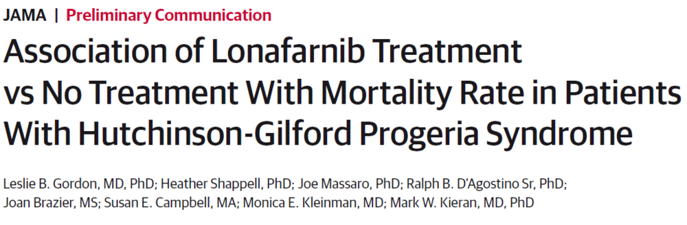 Association of Lonafarnib Treatment vs No Treatment With Mortality Rate in Patients With Hutchinson-Gilford Progeria Syndrome
