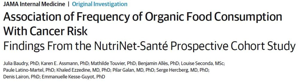 Association of Frequency of Organic Food Consumption With Cancer Risk